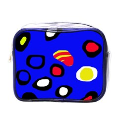Blue pattern abstraction Mini Toiletries Bags