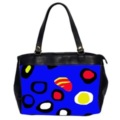 Blue pattern abstraction Office Handbags (2 Sides)