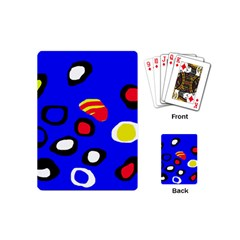 Blue pattern abstraction Playing Cards (Mini)