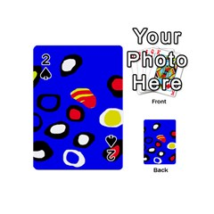 Blue pattern abstraction Playing Cards 54 (Mini)