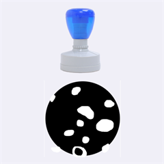 Blue pattern abstraction Rubber Round Stamps (Medium)