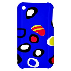 Blue pattern abstraction Apple iPhone 3G/3GS Hardshell Case