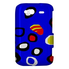 Blue pattern abstraction HTC Wildfire S A510e Hardshell Case