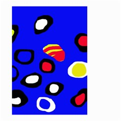 Blue pattern abstraction Small Garden Flag (Two Sides)