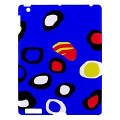 Blue pattern abstraction Apple iPad 3/4 Hardshell Case