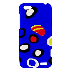 Blue pattern abstraction HTC One V Hardshell Case