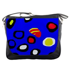 Blue pattern abstraction Messenger Bags