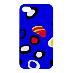 Blue pattern abstraction Apple iPhone 4/4S Premium Hardshell Case