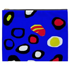 Blue pattern abstraction Cosmetic Bag (XXXL)