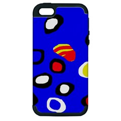 Blue pattern abstraction Apple iPhone 5 Hardshell Case (PC+Silicone)