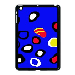 Blue pattern abstraction Apple iPad Mini Case (Black)