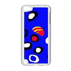 Blue pattern abstraction Apple iPod Touch 5 Case (White)