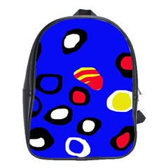 Blue pattern abstraction School Bags (XL)