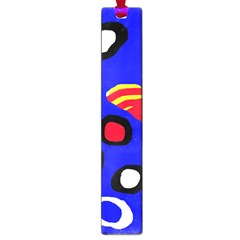 Blue pattern abstraction Large Book Marks