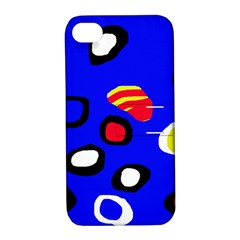 Blue pattern abstraction Apple iPhone 4/4S Hardshell Case with Stand