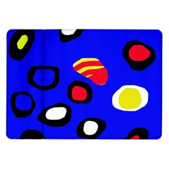Blue pattern abstraction Samsung Galaxy Tab 10.1  P7500 Flip Case