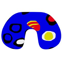 Blue pattern abstraction Travel Neck Pillows
