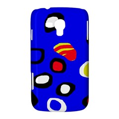 Blue pattern abstraction Samsung Galaxy Duos I8262 Hardshell Case