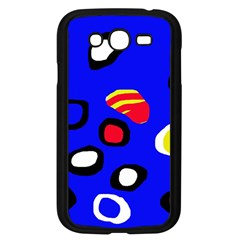 Blue pattern abstraction Samsung Galaxy Grand DUOS I9082 Case (Black)