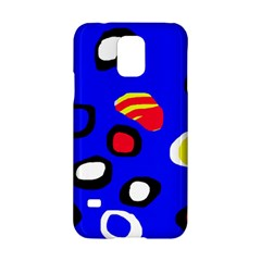 Blue pattern abstraction Samsung Galaxy S5 Hardshell Case