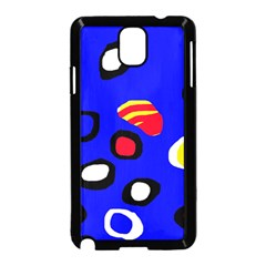 Blue pattern abstraction Samsung Galaxy Note 3 Neo Hardshell Case (Black)