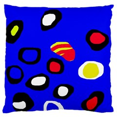 Blue pattern abstraction Standard Flano Cushion Case (Two Sides)