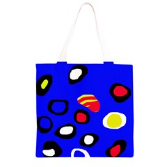 Blue pattern abstraction Grocery Light Tote Bag