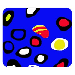 Blue pattern abstraction Double Sided Flano Blanket (Small)