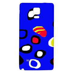 Blue pattern abstraction Galaxy Note 4 Back Case