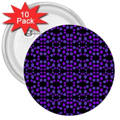 Dots Pattern Purple 3  Buttons (10 pack)