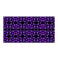 Dots Pattern Purple Satin Wrap