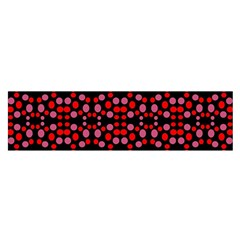 Dots Pattern Red Satin Scarf (Oblong)