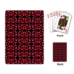 Dots Pattern Red Playing Card