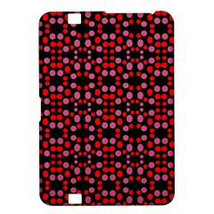 Dots Pattern Red Kindle Fire HD 8.9