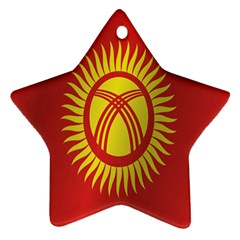 Flag Of Kyrgyzstan Star Ornament (Two Sides)