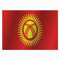 Flag Of Kyrgyzstan Large Glasses Cloth