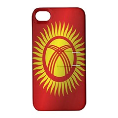 Flag Of Kyrgyzstan Apple iPhone 4/4S Hardshell Case with Stand