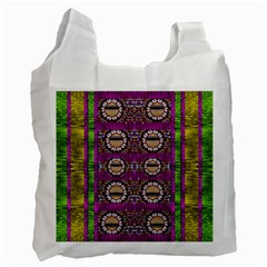 Rainbow Love For The Nature And Sunset In Calm And Steady State Recycle Bag (One Side)