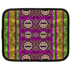 Rainbow Love For The Nature And Sunset In Calm And Steady State Netbook Case (xxl)