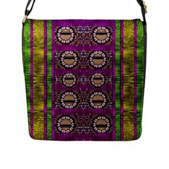 Rainbow Love For The Nature And Sunset In Calm And Steady State Flap Messenger Bag (l)