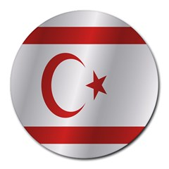 Flag Of Northern Cyprus Round Mousepads