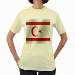 Flag Of Northern Cyprus Women s Yellow T-Shirt