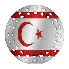 Flag Of Northern Cyprus Round Filigree Ornament (2Side)