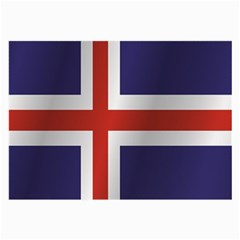 Flag Of Iceland Large Glasses Cloth