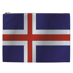 Flag Of Iceland Cosmetic Bag (XXL)