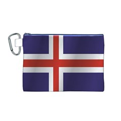 Flag Of Iceland Canvas Cosmetic Bag (M)