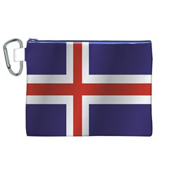Flag Of Iceland Canvas Cosmetic Bag (XL)