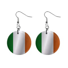 Flag Of Ireland Mini Button Earrings