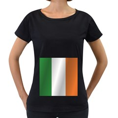 Flag Of Ireland Women s Loose-Fit T-Shirt (Black)