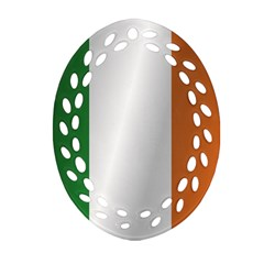 Flag Of Ireland Ornament (Oval Filigree)